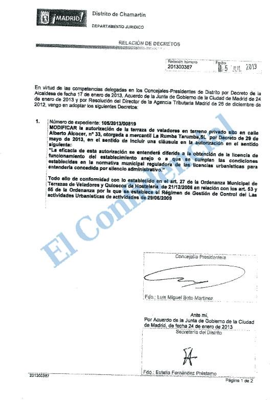 El Hijo De Ana Botella Abre Una Terraza En Madrid Sin Licencia