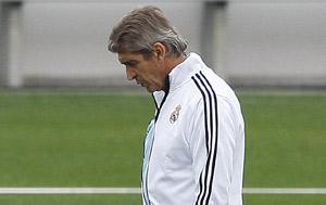 Manuel Pellegrini, técnico del Real Madrid.