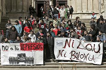 Manifestación anti-Bolonia