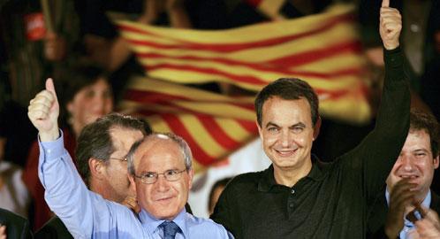 José Montilla y José Luis Rodríguez Zapatero (Efe)