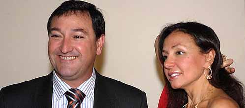 El ex presidente de Colonial Luis Portillo, junto a Esther Koplowitz (EFE)