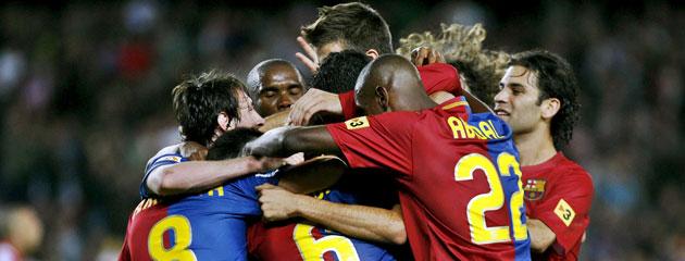 El Barça se convirtió en una piña