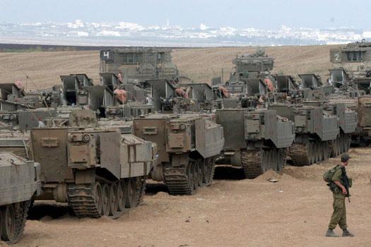 Tanques das Forças Israelitas