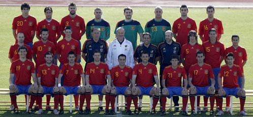 Foto oficial de la selección española con todos los integrantes que disputarán el Mundial.