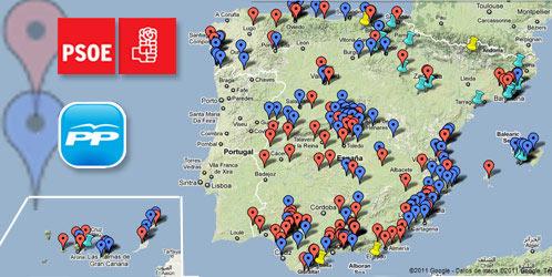 Fuente: Corruptódromo / Google Maps / El Confidencial