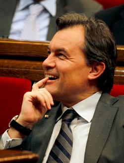 Artur Mas en el Parlament (EFE)