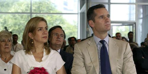 Iñaki Urdangarín y la Infanta Cristina durante un acto en Washington.