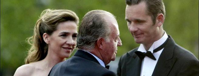 Cristina, Juan Carlos e Iñaki
