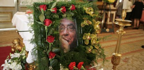 Un retrato de Saramago, en el ayuntamiento de Lisboa